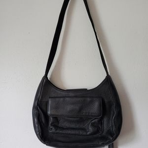 Fossil/ Small Black Leather Bag